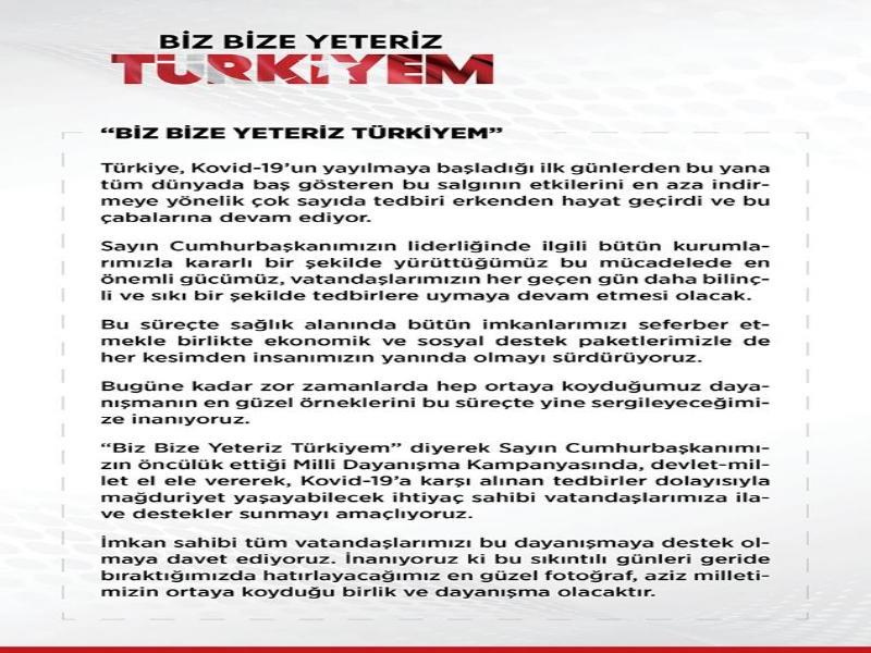 CUMHURBAŞKANI, KAMPANYAYA DAVET ETTİ