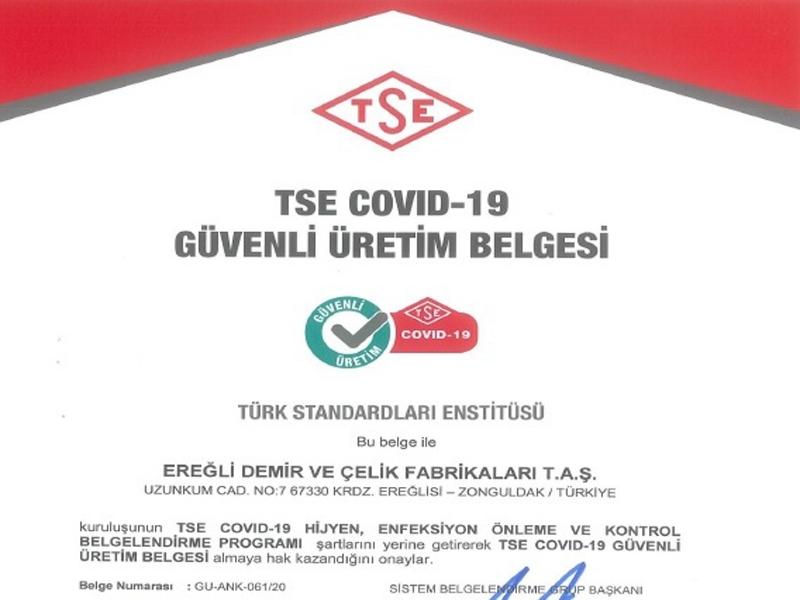 ERDEMİR, COVİD-19'DA ÇOK TEDBİRLİ