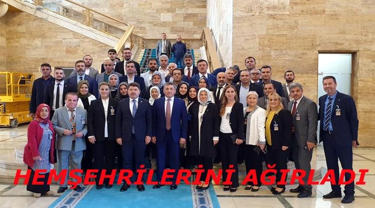 TUNÇ AK PARTİ BARTIN TEŞKİLATINI TBMM'DE AĞIRLADI...