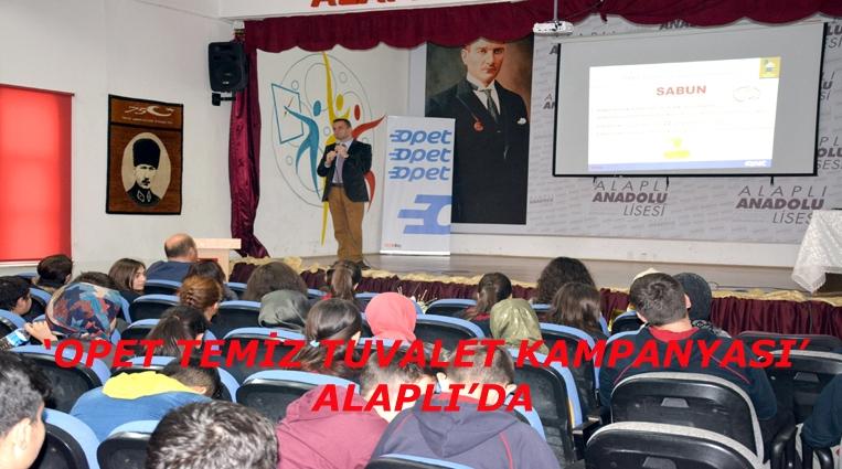 'OPET TEMİZ TUVALET KAMPANYASI' ALAPLI'DA.