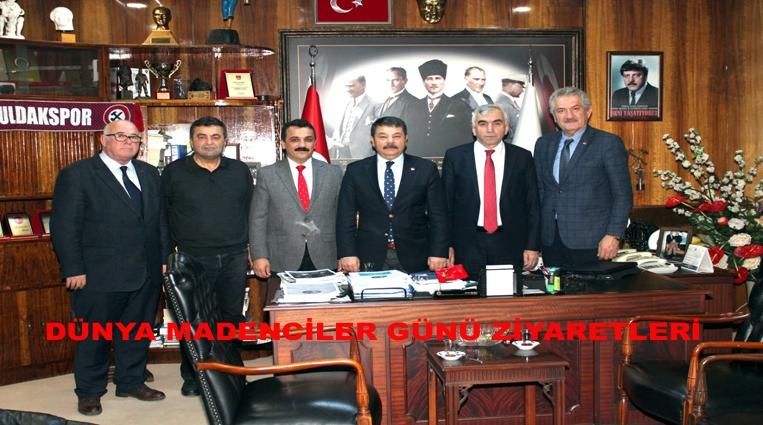 GMİS'E, DÜNYA MADENCİLER GÜNÜ ZİYARETLERİ.