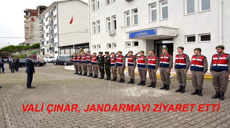 VALİ ÇINAR'DAN JANDARMAYA SÜRPRİZ ZİYARET