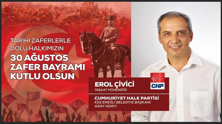 Erol Çivici Zafer Bayramını Kutladı