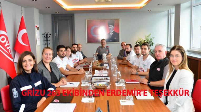 GRİZU 263 EKİBİNDEN ERDEMİR'E TEŞEKKÜR
