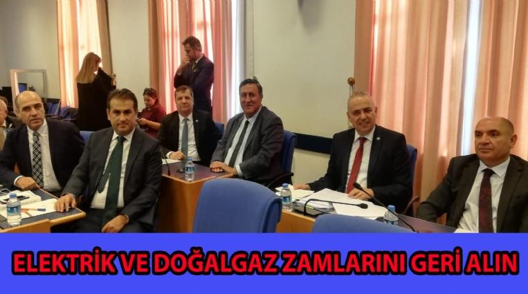 ELEKTRİK VE DOĞALGAZ ZAMLARINI GERİ ALIN!