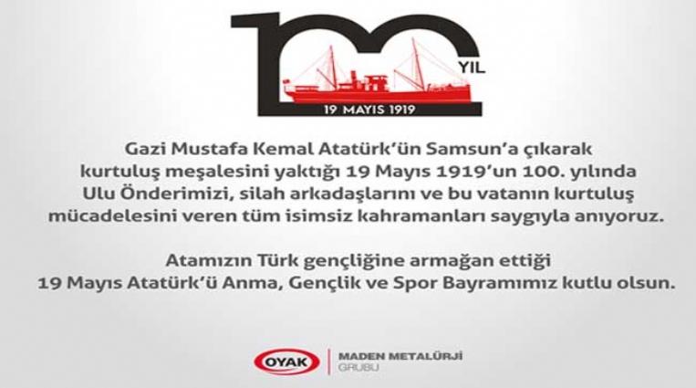 ERDEMİR'İN 19 MAYIS MESAJI..