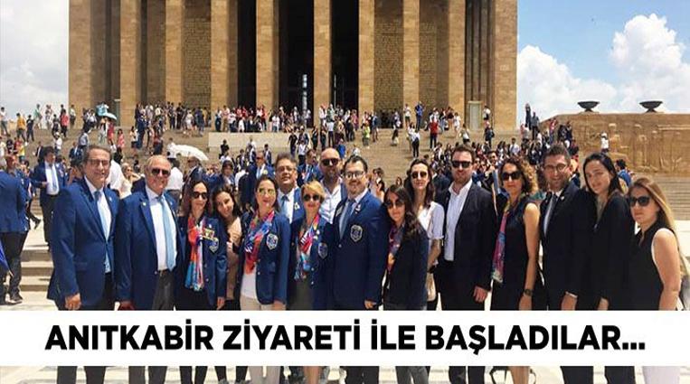ATEŞ, YENİ DÖNEME ANITKABİR ZİYARETİ İLE BAŞLADI..