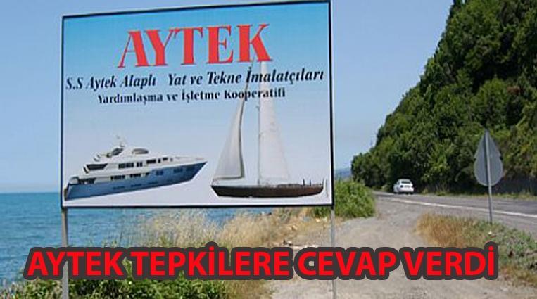 AYTEK TEPKİLERE CEVAP VERDİ..