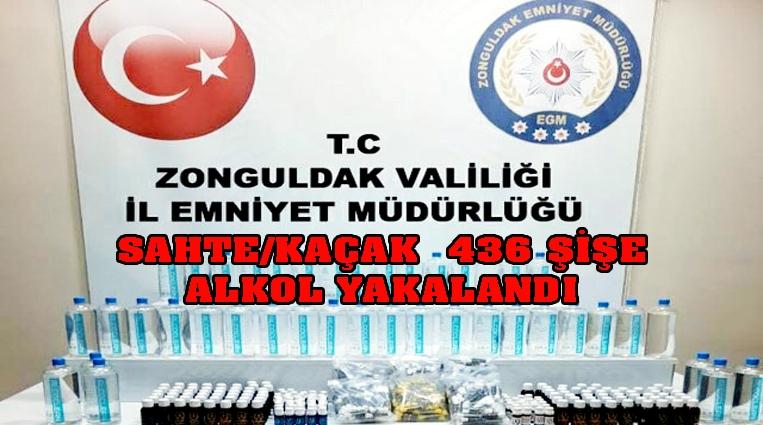 SAHTE/KAÇAK  436 ŞİŞE ALKOL YAKALANDI