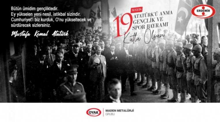 ERDEMİR, 19 MAYIS BAYRAMINI KUTLADI
