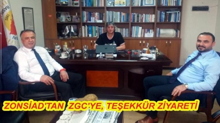 ZONSİAD'TAN  ZGC'YE, TEŞEKKÜR ZİYARETİ