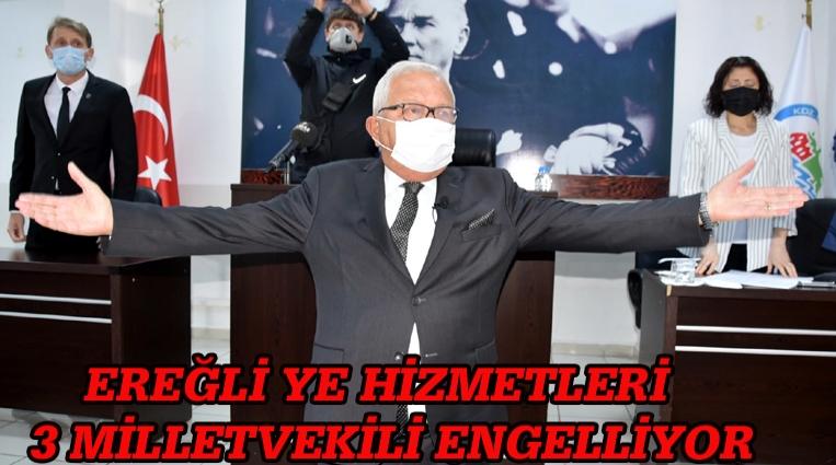 """POSBIYIK; """"EREĞLİ'YE HİZMETLERİ 3 MİLLETVEKİLİ ENGELLİYOR"""""""