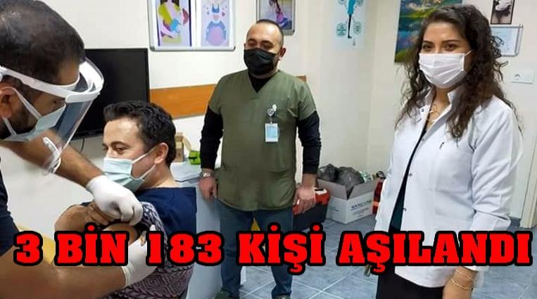 ALAPLI'DA 3 BİN 183 KİŞİ AŞILANDI