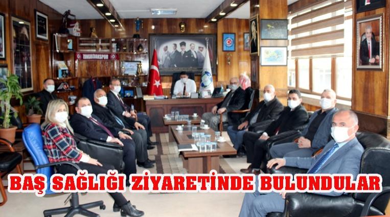 CHP İL GENEL MECLİSİNDEN GMİS'E BAŞSAĞLIĞI ZİYARETİ
