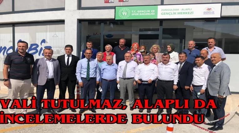 VALİ TUTULMAZ, ALAPLI'DA İNCELEMELERDE BULUNDU